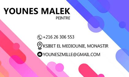 Younes Malek, peinture et décoration