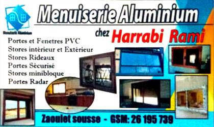 carte visite domaine menuiserie aluminium à Zaouiet Sousse