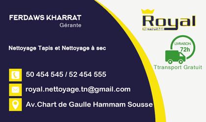 digitale carte visite de Royal Nettoyage